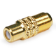 RCA Female to F Female Adaptor - Gold Plated