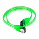18inch SATA 6Gbps Cable w/Locking Latch - UV Green