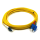 Fiber Optic Cable, LC/SC, Single Mode, Duplex - 10 meter (9/125 Type) - Yellow