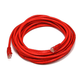 Cat5e 24AWG UTP Ethernet Network Patch Cable, 20ft Red