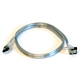 36inch SATA 6Gbps Cable w/Locking Latch (90 Degree to 180 Degree) - Silver