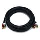 15ft Premium 2 RCA Plug/2 RCA Plug M/M 22AWG Cable - Black