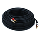 100ft Premium 2 RCA Plug/2 RCA Plug M/M 22AWG Cable - Black