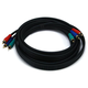 10ft 22AWG 3-RCA Component Video Coaxial Cable (RG-59/U) - Black
