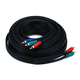 35ft 22AWG 3-RCA Component Video Coaxial Cable (RG-59/U) - Black
