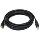 15ft USB 2.0 A Male to B Male 28/24AWG Cable (Gold Plated)