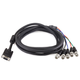 VGA HD-15 to 5 BNC RGB Video Cable for HDTV Monitor cable - 10FT (Black)