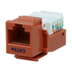 Cat5E RJ-45 Toolless Keystone Jack - Orange