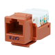 Cat6 RJ-45 Toolless Keystone - Orange