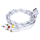 AV Cable w/ Composite (Yellow RCA)/S-Video and Stereo Audio (Red/White) for Wii & Wii U- Net Jacket and Gold Plated