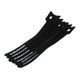 Hook & Loop Fastening Cable Ties, 6-inch, 10pcs/pack, Black