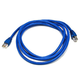Monoprice Cat6A Ethernet Patch Cable - Snagless RJ45, Stranded, 550Mhz, STP, Pure Bare Copper Wire, 26AWG, 7ft, Blue