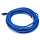 Cat6A 24AWG STP Ethernet Network Patch Cable, 25ft Blue