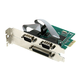 PCI-Express 2x Dual RS-232 Serial Port and 1x Parallel Port Card, Moschip Chipset