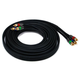 15ft 18AWG CL2 Premium 3-RCA Component Video Coaxial Cable (RG-6/U) - Black