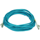 Monoprice Fiber Optic Cable - LC to LC, OM3, 50/125 Type, Multi Mode, 10Gb, Duplex, Aqua, 10m