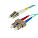 10Gb Fiber Optic Cable, LC/SC, Multi Mode, Duplex - 2 Meter (50/125 Type) - Aqua