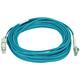 10Gb Fiber Optic Cable, LC/SC, Multi Mode, Duplex - 10 Meter (50/125 Type) - Aqua