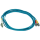 Monoprice Fiber Optic Cable - LC to ST, OM3, 50/125 Type, Multi Mode, 10Gb, Duplex, Aqua, 3m