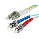 Monoprice Fiber Optic Cable - LC to ST, OM3, 50/125 Type, Multi Mode, 10Gb, Duplex, Aqua, 5m, Corning