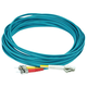 Monoprice Fiber Optic Cable - LC to ST, OM3, 50/125 Type, Multi Mode, 10Gb, Duplex, Aqua, 10m