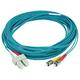 Monoprice 10Gb Fiber Optic Cable, ST/SC, Multi Mode, Duplex - 10 Meter (50/125 Type) - Aqua, Corning