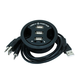 3-Ports USB 2.0 HUB with Audio (In-Desk)