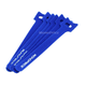 Hook and Loop Fastening Cable Ties, 6 in, 50 pcs/pack, Blue