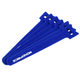 Hook & Loop Fastening Cable Ties, 6-inch, 100pcs/pack, Blue
