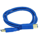 USB-A to USB-B 3.0 Cable - 28/24AWG, Gold Plated, Blue, 3ft
