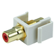 Monoprice Keystone Jack - Modular RCA w/Red Center (Ivory)