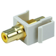 Monoprice Keystone Jack - Modular RCA w/Yellow Center (Ivory)