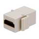 Monoprice Keystone Jack HDMI Female to Female Coupler Adapter, Ivory