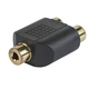 3.5mm Stereo Jack to 2 RCA Jack Splitter Adapter - Gold Plated