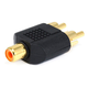 RCA Jack to 2x RCA Plug Splitter Adapter, Gold Plated
