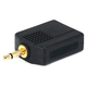 3.5mm Mono Plug to 2 x 6.35mm (1/4 Inch) Stereo Jack Splitter Adapter - Gold Plated