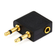 2 x 3.5mm Plug to 3.5mm Plug Splitter Adapter - Gold Plated (Right Angle)