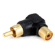 Monoprice RCA Plug to RCA Jack Adapter, Gold Plated (Right Angle)
