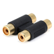 2 RCA Jack to 2 RCA Jack Adapter - Gold Plated