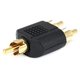 RCA Plug to 2x RCA Plug Splitter Adapter, Gold Plated