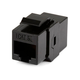 8P8C RJ45 Cat5e Inline Coupler Type Keystone Jack, Black