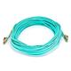 10Gb Fiber Optic Cable, LC/LC, Multi Mode, Duplex - 15 Meter (50/125 Type) - Aqua