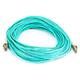 10Gb Fiber Optic Cable, LC/LC, Multi Mode, Duplex - 20 Meter (50/125 Type) - Aqua