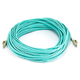 10Gb Fiber Optic Cable, LC/LC, Multi Mode, Duplex - 25 Meter (50/125 Type) - Aqua