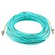 10Gb Fiber Optic Cable, LC/LC, Multi Mode, Duplex - 35 Meter (50/125 Type) - Aqua