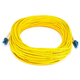 Monoprice Fiber Optic Cable - LC to LC, 9/125 Type, Single Mode, Duplex, Yellow, 25m, Corning