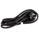 6ft 18AWG European Power Cord Cable - H05VV-F NEMA C13 - Black