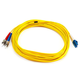 Fiber Optic Cable, LC/ST, Single Mode, Duplex - 10 meter (9/125 Type) - Yellow