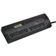 7 Outlet Power Surge Protector w/ Dual Timer Controller Zones & 2 USB Port - 2100 Joules - Plastic w/ 4ft Cord