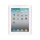 Premium Polycarbonate Case w/ Rubber Coating for iPad 2, iPad 3, iPad 4 - Pink